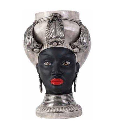 Testa Di Moro Agaren Collezione Egizia In Ceramica Di Caltagirone