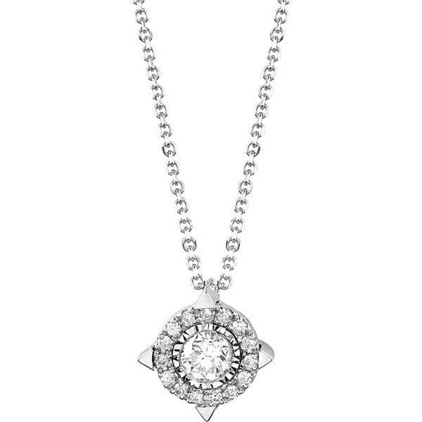 Collana Donna Bliss In Oro Bianco 18 kt E Diamanti 0.18 Ct