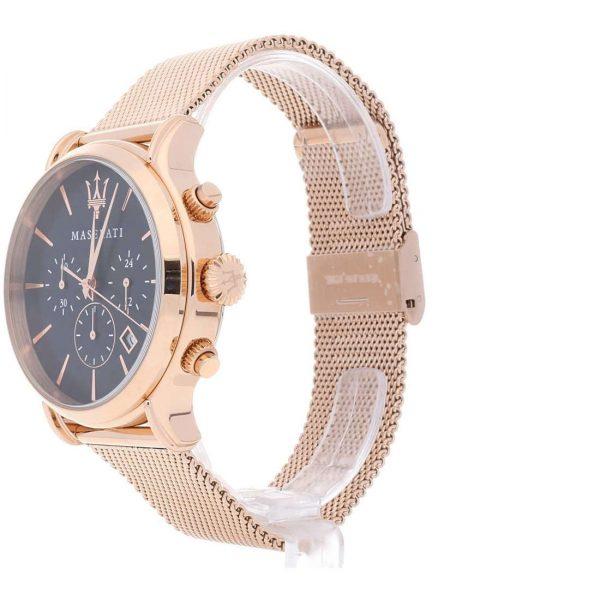 Orologio Maserati Uomo Solo Tempo Cronografo In Acciaio Satinato Epoca Con Movimento Al Quarzo Seiko Vd53 H4.7 1 Verre Gioielli - l'istituzione del gioiello