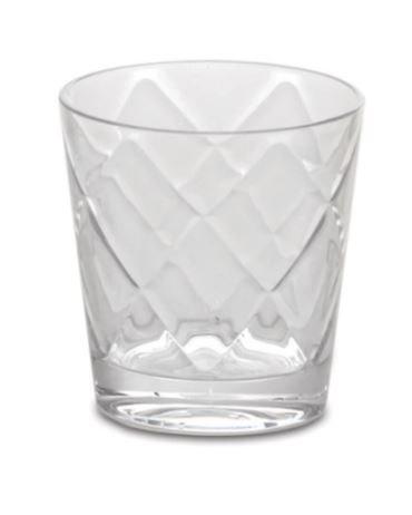 Set 6 Bicchieri Da Acqua Baci Milano In Melamina Trasparenti