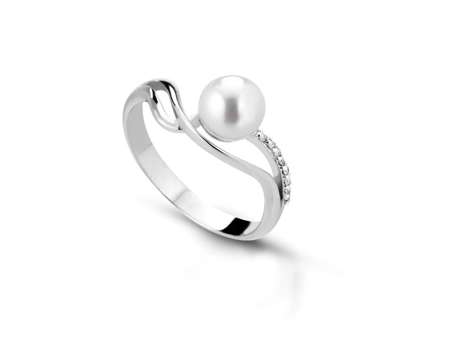 Anello con perla naturale 6