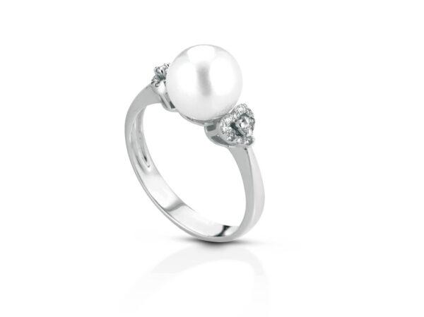 Anello con perla naturale 8