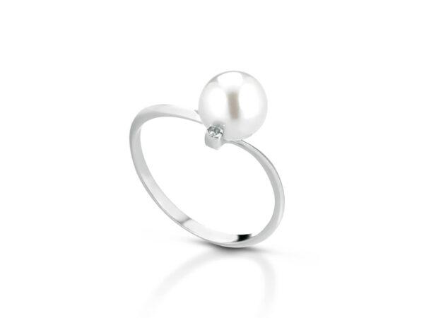 Anello con perla naturale 7
