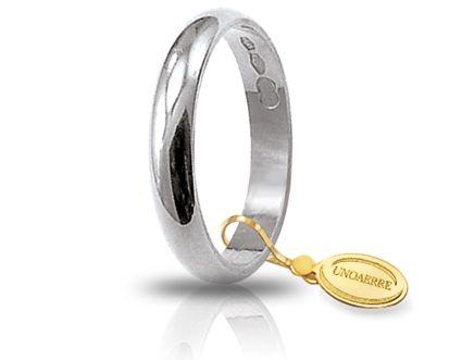 Fede Nuziale Unoaerre In Oro Bianco 18 Kt 5 Gr