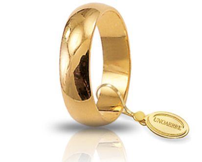 Fede Nuziale Mantovana Unoaerre In Oro Giallo 18 Kt
