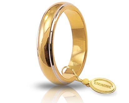 Fede Nuziale Unoaerre In Oro Giallo 18 Kt 7 Gr Con Bordi Rodiati