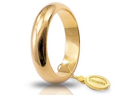 Fede Nuziale Unoaerre In Oro Giallo 18 Kt 10 Gr